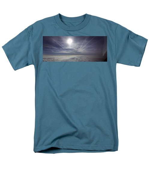 Contrail Panorama Men's T-Shirt  (Regular Fit) by Greg Reed