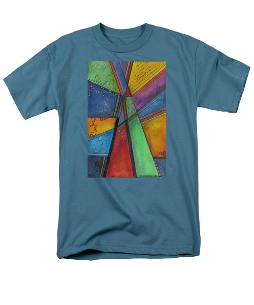 Men's T-Shirt  (Regular Fit) featuring the painting Convergence by Nicole Nadeau
