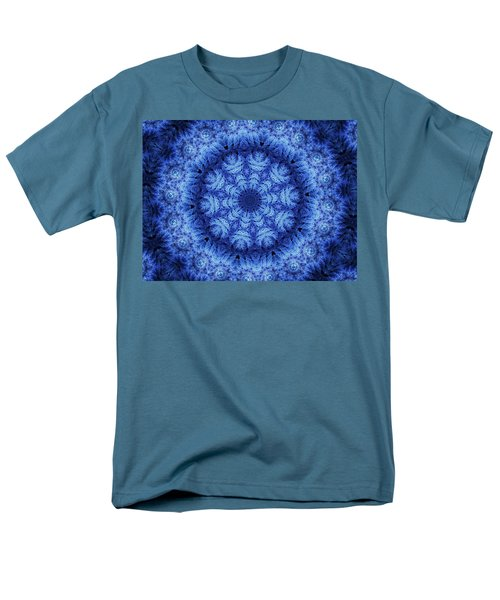 Men's T-Shirt  (Regular Fit) featuring the digital art Cool Down Series #1 Snowflake by Lilia D