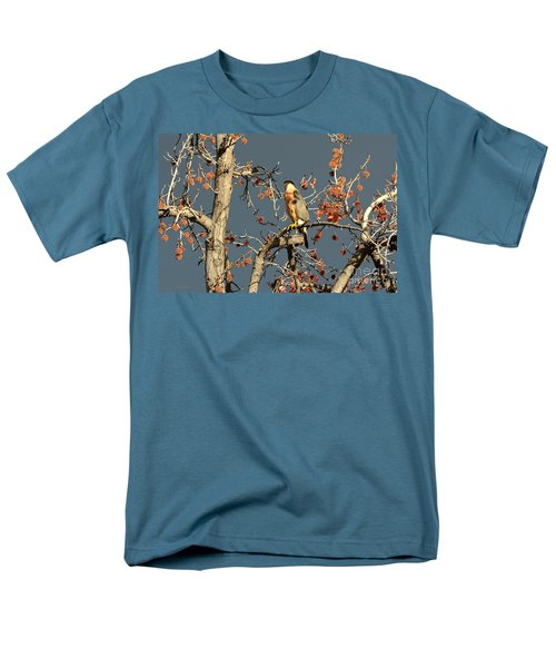 Cooper's Hawk Catches Sun In Stormy Sky Men's T-Shirt  (Regular Fit) by Susan Wiedmann
