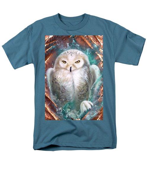Copper Snowy Owl Men's T-Shirt  (Regular Fit) by Sandi Baker