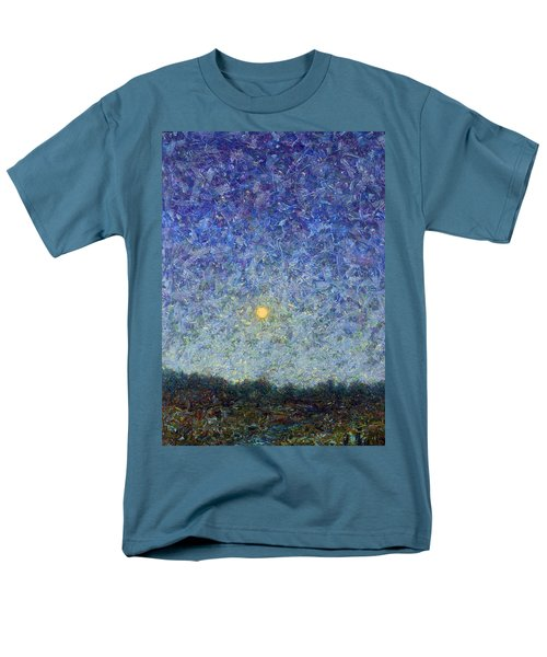Men's T-Shirt  (Regular Fit) featuring the painting Cornbread Moon by James W Johnson