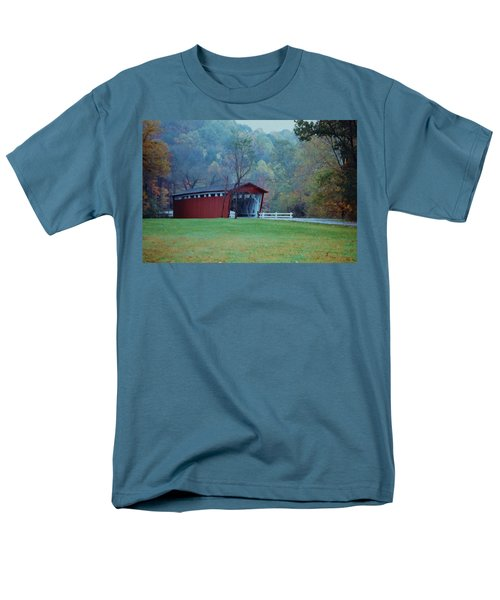 Men's T-Shirt  (Regular Fit) featuring the photograph Covered Bridge by Diane Alexander