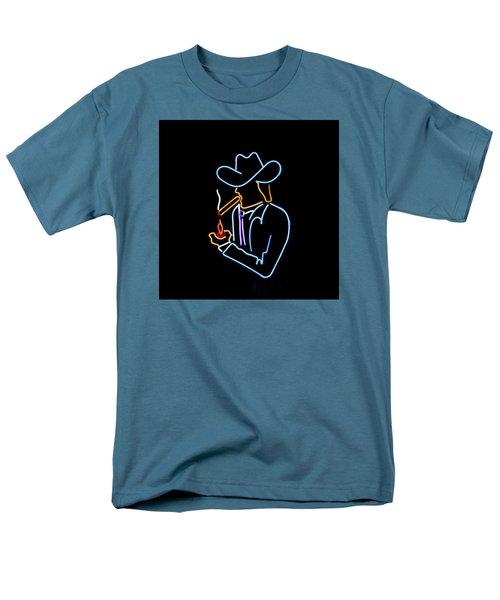 Cowboy In Neon Men's T-Shirt  (Regular Fit) by Art Block Collections