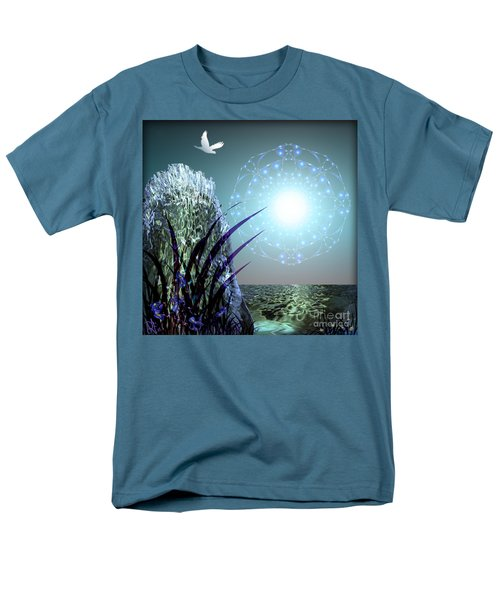 Men's T-Shirt  (Regular Fit) featuring the digital art Crystal Breathing Rock by Rosa Cobos
