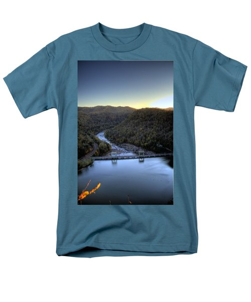 Men's T-Shirt  (Regular Fit) featuring the photograph Dam Across The River by Jonny D