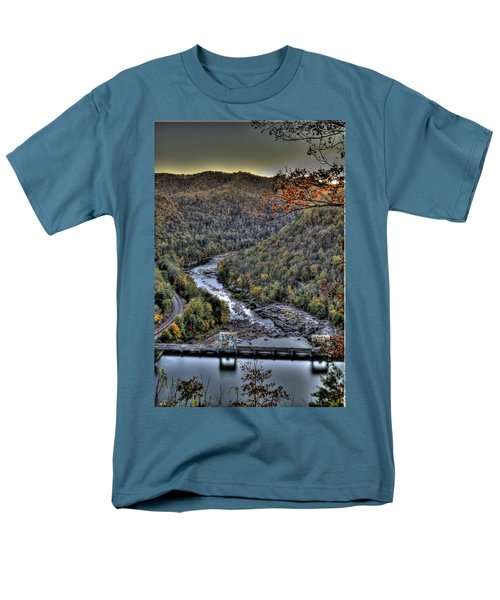 Men's T-Shirt  (Regular Fit) featuring the photograph Dam In The Forest by Jonny D