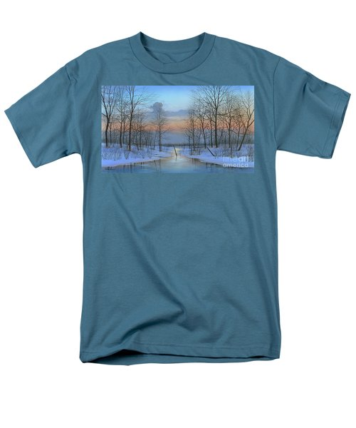 Men's T-Shirt  (Regular Fit) featuring the painting December Solitude by Mike Brown
