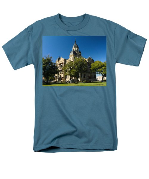 Denton County Courthouse Men's T-Shirt  (Regular Fit) by Allen Sheffield