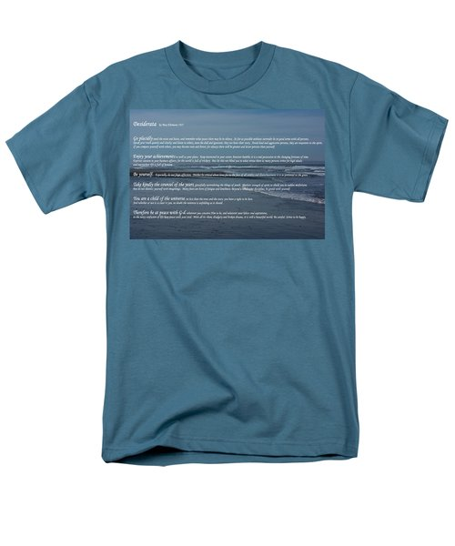 Desiderata  Men's T-Shirt  (Regular Fit) by Tikvah's Hope