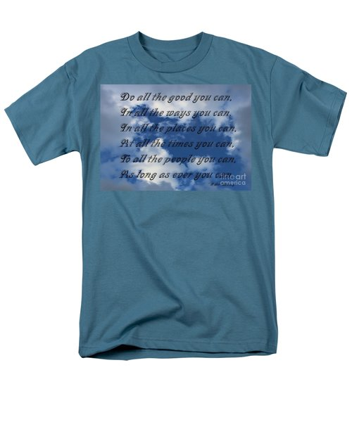 Do All The Good You Can Men's T-Shirt  (Regular Fit) by Barbara Griffin