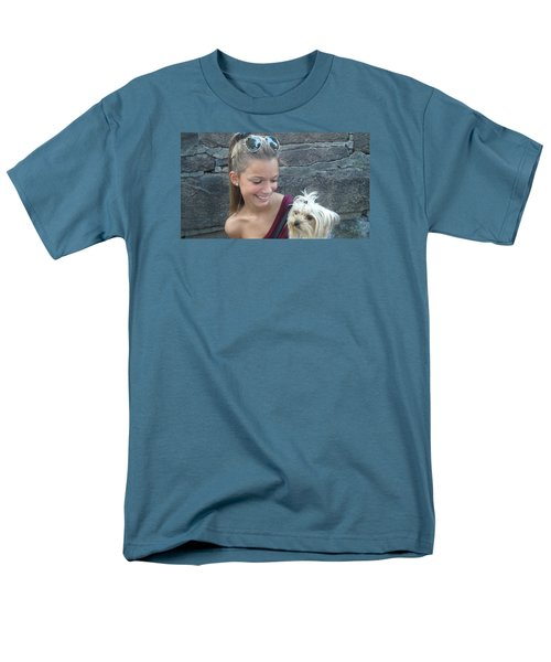 Men's T-Shirt  (Regular Fit) featuring the photograph Dog And True Friendship 4 by Teo SITCHET-KANDA
