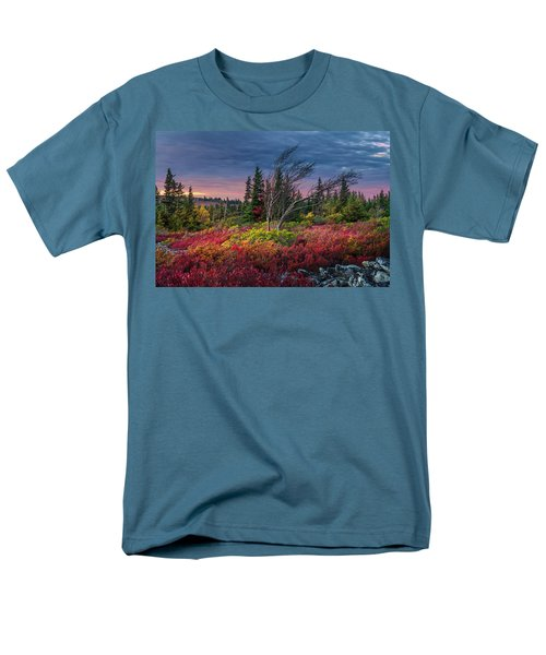 Dolly Sods Windswept Sunset Men's T-Shirt  (Regular Fit) by Mary Almond