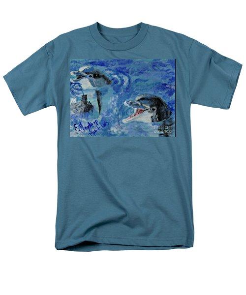 Dolphins Men's T-Shirt  (Regular Fit) by Francine Heykoop