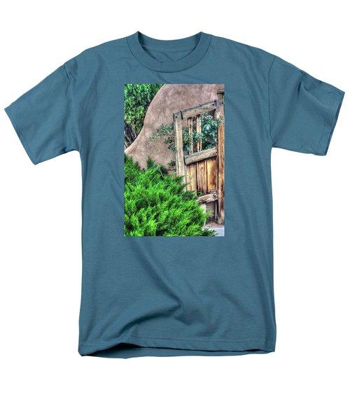 Door, Santuario De Chimayo Men's T-Shirt  (Regular Fit) by Lanita Williams
