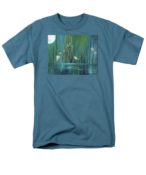 Men's T-Shirt  (Regular Fit) featuring the painting Dragonfly Diner by Carol Sweetwood