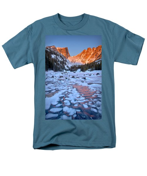 Dream Lake - Rocky Mountain National Park Men's T-Shirt  (Regular Fit) by Ronda Kimbrow