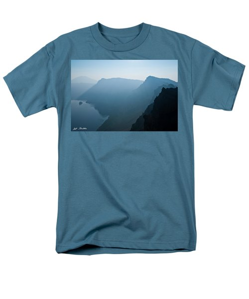 Men's T-Shirt  (Regular Fit) featuring the photograph Early Morning Fog Over Crater Lake by Jeff Goulden