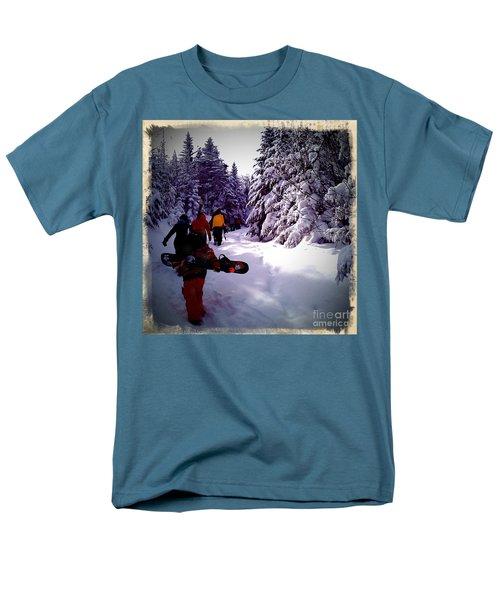 Men's T-Shirt  (Regular Fit) featuring the photograph Earning Turns by James Aiken