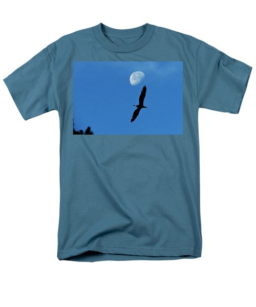 Men's T-Shirt  (Regular Fit) featuring the photograph Egret Flight by Charlotte Schafer