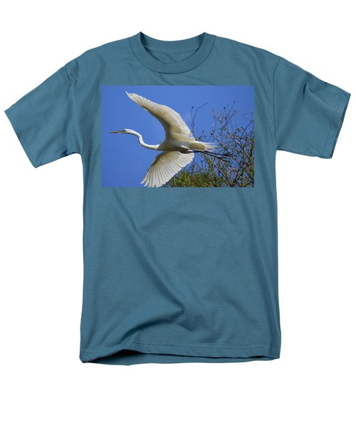 Egret Flying Men's T-Shirt  (Regular Fit) by Judith Morris