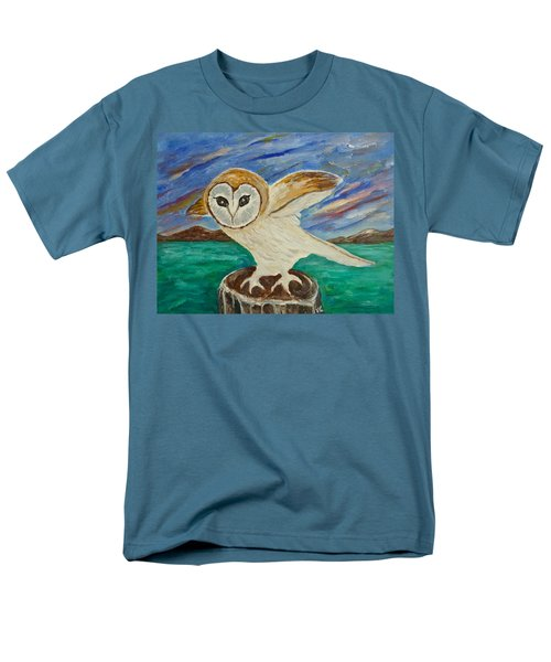 Equinox Owl Men's T-Shirt  (Regular Fit) by Victoria Lakes