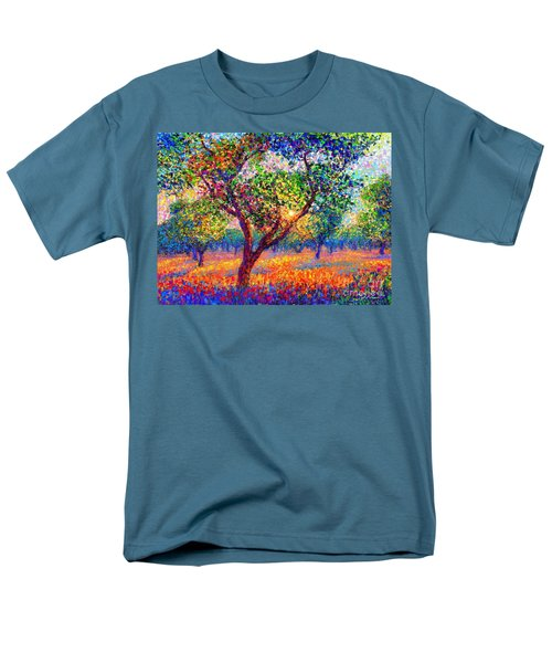 Men's T-Shirt  (Regular Fit) featuring the painting Evening Poppies by Jane Small