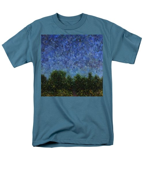 Men's T-Shirt  (Regular Fit) featuring the painting Evening Star - Square by James W Johnson
