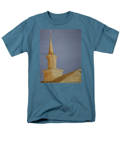 Men's T-Shirt  (Regular Fit) featuring the painting Evening Worship by Stacy C Bottoms