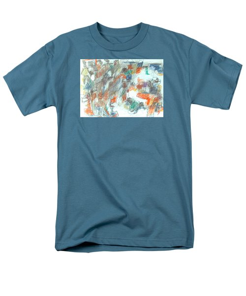 Men's T-Shirt  (Regular Fit) featuring the mixed media Express Graphic by Esther Newman-Cohen