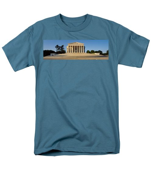 Facade Of A Memorial, Jefferson Men's T-Shirt  (Regular Fit) by Panoramic Images