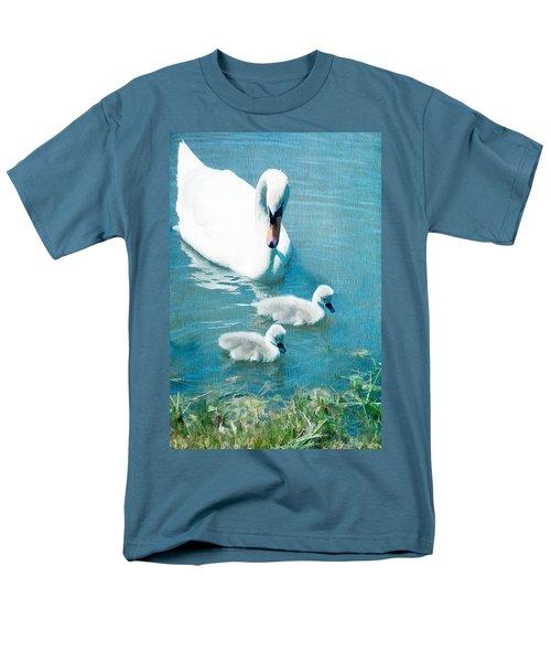 Family Of Swans At The Market Common Men's T-Shirt  (Regular Fit) by Vizual Studio