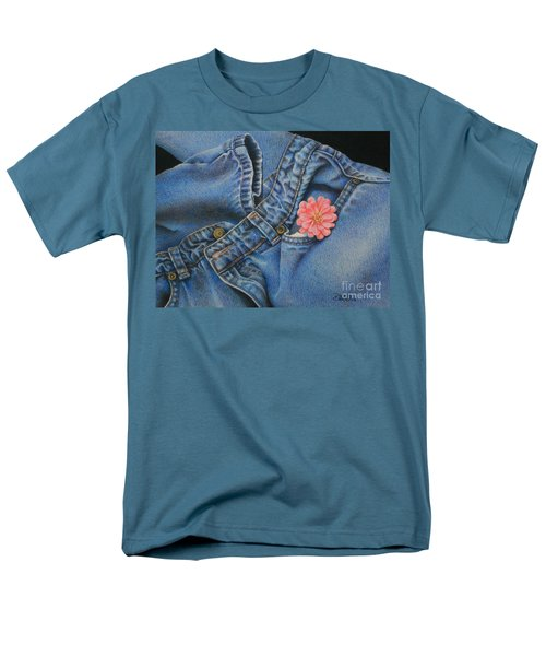 Men's T-Shirt  (Regular Fit) featuring the painting Favorite Jeans by Pamela Clements