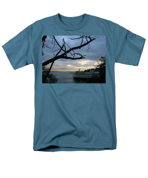 Ferryboat To Seattle  Men's T-Shirt  (Regular Fit) by Kym Backland