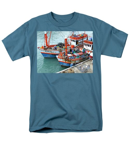 Fisherman Men's T-Shirt  (Regular Fit) by Andrea Anderegg