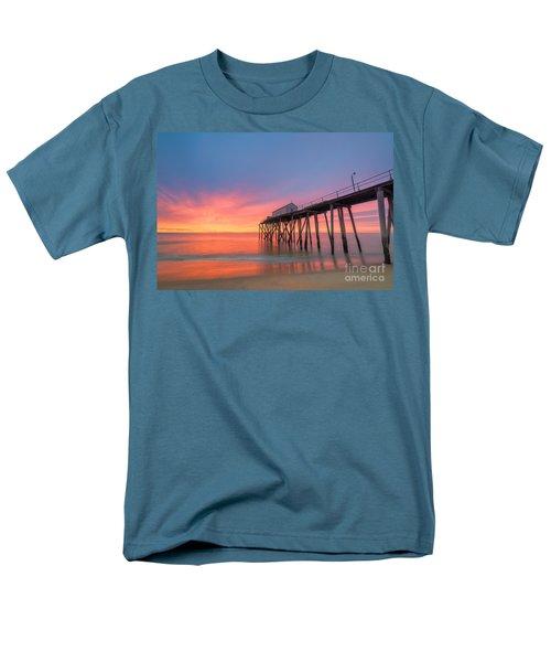 Fishing Pier Sunrise Men's T-Shirt  (Regular Fit) by Michael Ver Sprill
