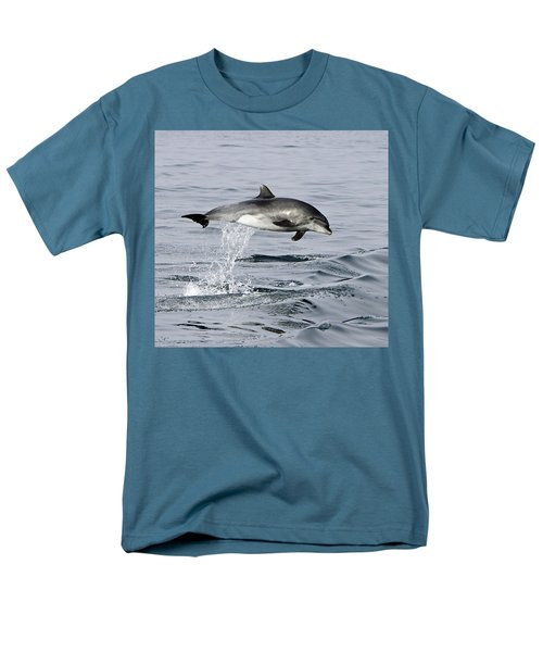 Flight Of The Dolphin Men's T-Shirt  (Regular Fit) by Shoal Hollingsworth