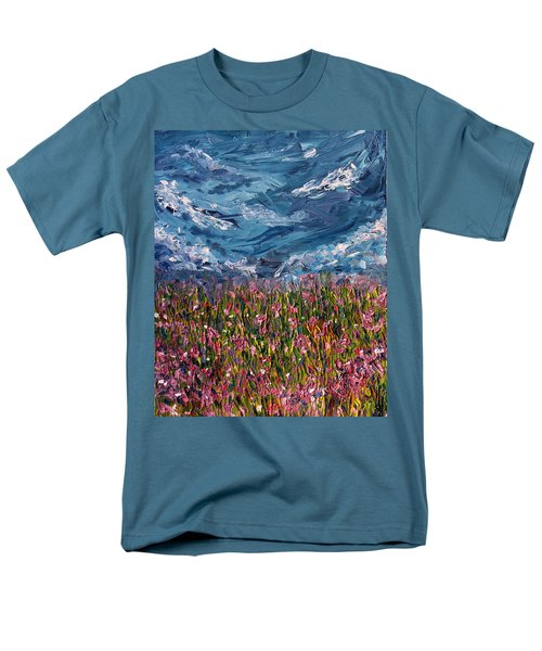 Men's T-Shirt  (Regular Fit) featuring the painting Flowers Of The Field by Meaghan Troup