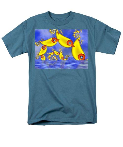 Men's T-Shirt  (Regular Fit) featuring the digital art Jumping Fantasy Animals by Gabiw Art