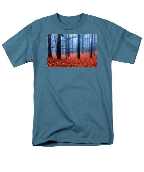 Men's T-Shirt  (Regular Fit) featuring the photograph Fog On Leaves by Edgar Laureano
