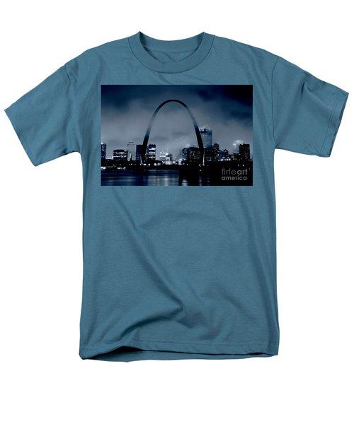 Fog Over St Louis Monochrome Men's T-Shirt  (Regular Fit) by Garry McMichael