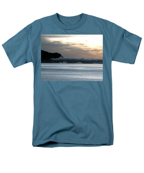 Men's T-Shirt  (Regular Fit) featuring the photograph Fog Roll Sunset by Jennifer Wheatley Wolf