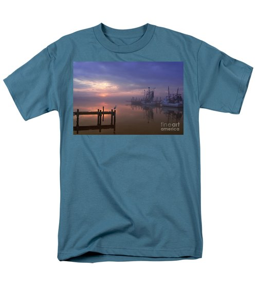 Foggy Sunset Over Swansboro Men's T-Shirt  (Regular Fit) by Benanne Stiens