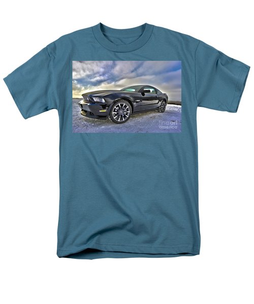 Men's T-Shirt  (Regular Fit) featuring the photograph ford mustang car HDR by Paul Fearn