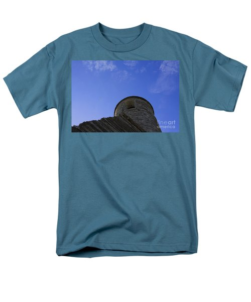Men's T-Shirt  (Regular Fit) featuring the pyrography Fort Tower by Chris Thomas