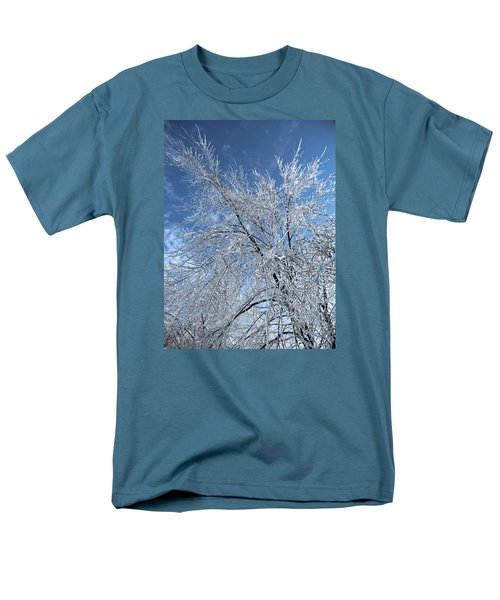 Men's T-Shirt  (Regular Fit) featuring the photograph Freezing Rain ... by Juergen Weiss