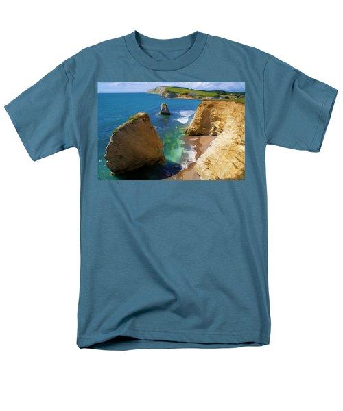 Freshwater Bay Men's T-Shirt  (Regular Fit) by Ron Harpham