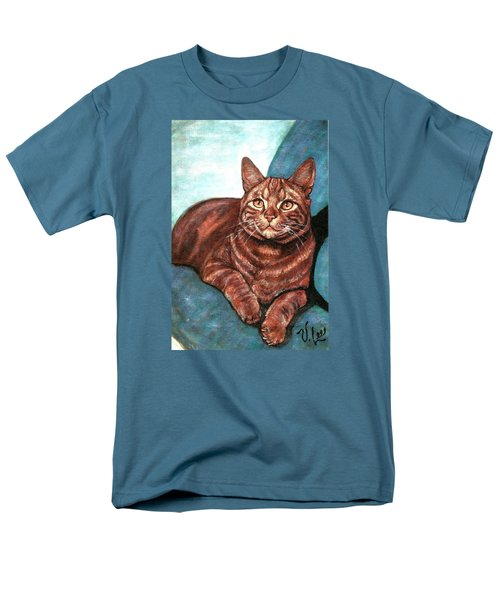 Ginger Tabby Men's T-Shirt  (Regular Fit) by VLee Watson