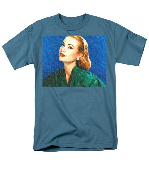 Grace Kelly Painting Men's T-Shirt  (Regular Fit) by Gianfranco Weiss