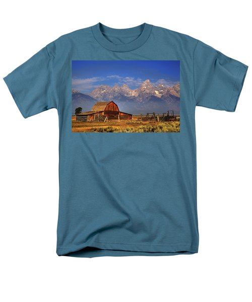 Grand Tetons From Moulton Barn Men's T-Shirt  (Regular Fit) by Alan Vance Ley